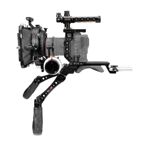 Canon C70 baseplate, cage with handles, matte box, follow focus pro