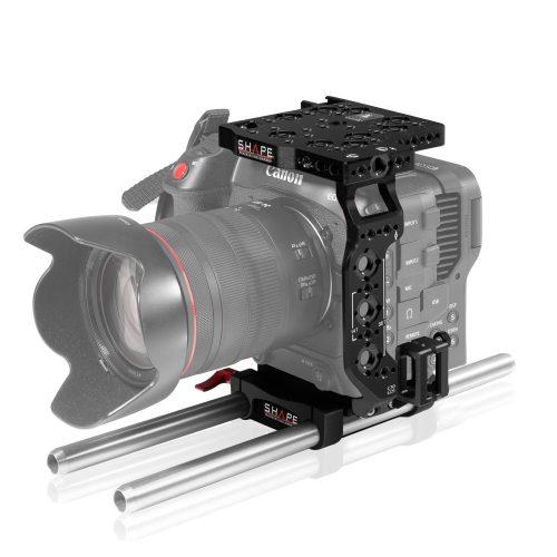Cage et sytèm de tige 15 mm LW pour Canon C70